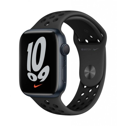 Apple Watch Nike Series 7 GPS, 45mm Midnight Aluminium Case with Anthracite/Black Nike Sport Band