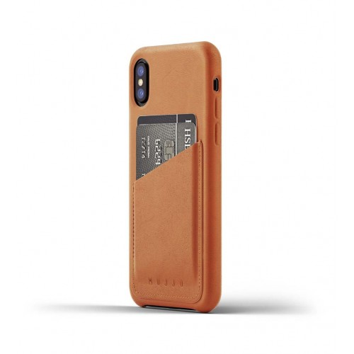 Leather Wallet Case for iPhoneX - Tan