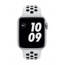 Apple Watch SE GPS 44mm Silver Case with Pure Platinum/Black Nike Sport Band