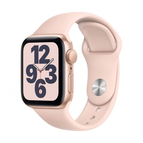 Apple Watch SE GPS 44mm Gold Case with Pink Sand Sport Band