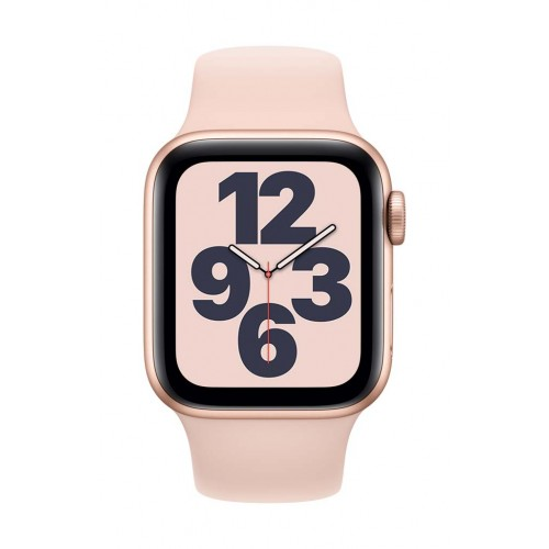 Apple Watch SE GPS 40mm Gold Case with Pink Sand Sport Band