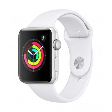 Apple Watch Series 3, 38mm Silver Aluminium Case with White Sport Band
